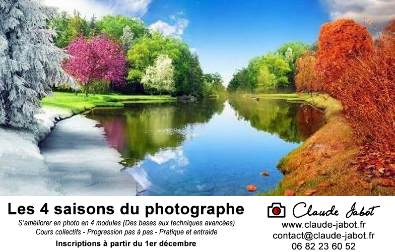 Formation - Les 4 saisons du photographe - Claude Jabot Photographe